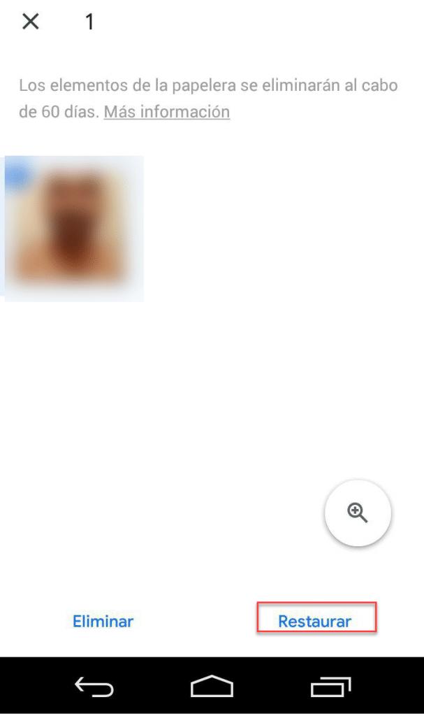 Recuperar fotos borradas google imagenes